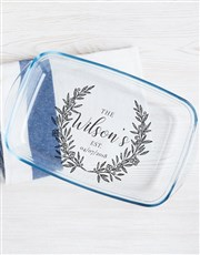 Personalised Family Wreath Dish