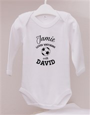 Personalised Soccer With Daddy Onesie