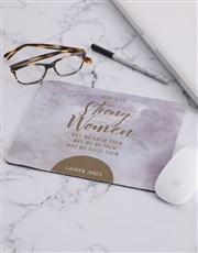 Personalised Strong Women Mouse Pad