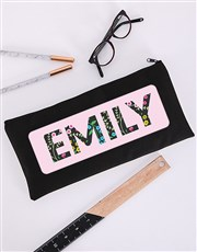 Personalised Danty Floral Pencil Bag