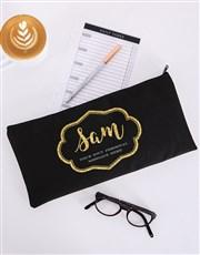 Personalised Glam Scroll Pencil Bag