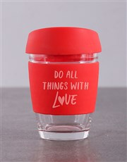 Personalised Do Things With Love Travel Mug