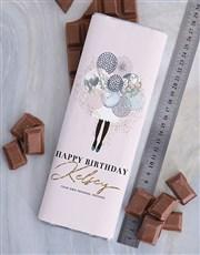 Personalised Birthday Chocolate Slab