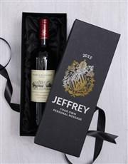 Personalised Crest Wine Giftbox