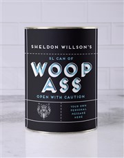 Personalised Can of Woop Ass