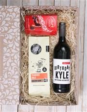 Personalised Birthday Wine Gourmet Hamper