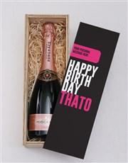 Personalised Pink Birthday Printed Crate