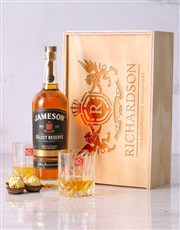 Personalised Jameson and Crystal Crate