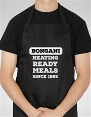 Personalised Heating Ready Meals Apron