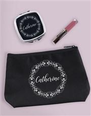 Personalised Filigree Cosmetic Bag