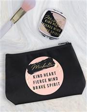 Personalised Kind Heart Cosmetic Bag