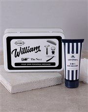 Order this personalised gents shaving tin and have