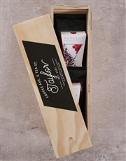 Personalised Coffee Ave and Tea St in Crate