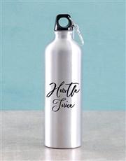 Personalised Hustle Juice Water Bottle