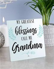 Personalised Grandma Glass Tile