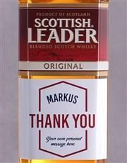 Personalised Thank You Scottish Leader