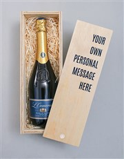 Personalised Message Printed Bubbly Crate