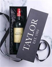Personalised Red Wine Printed Giftbox