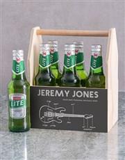 Personalised Fender Printed Beer Crate