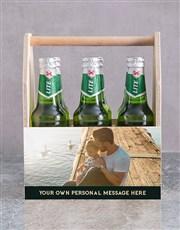 Personalised Photo Printed Beer Crate