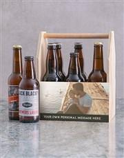 Personalised Photo Printed Beer Caddy