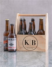 Personalised Monogram Printed Beer Crate