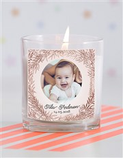 Pic in a Wreath Baby Candle