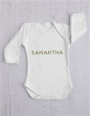 Personalised Floral Font Clothing Gift Set
