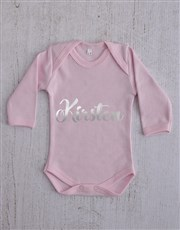 Personalised Silver Name Clothing Gift Set