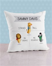 Personalised Stand Tall Baby Scatter Cushion
