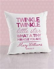 Personalised Twinkle Twinkle Baby Scatter Cushion