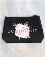 Personalised Peony Cosmetic Bag