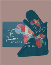 Personalised Africa Glass Chopping Board