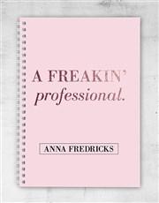 Personalised Freakin Professional Notebook
