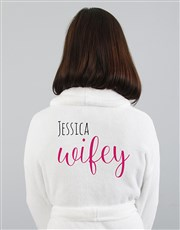 Personalised Wifey White Gown