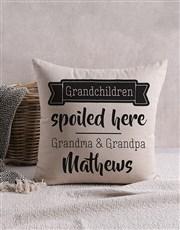 Personalised Happy Grandchildren Scatter Cushion