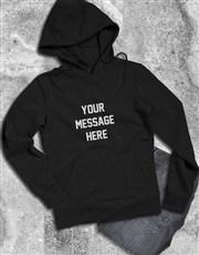 Personalised Message Black Hoodie