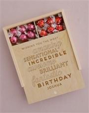 Personalised Fantasic Birthday Lindt Treasure Box