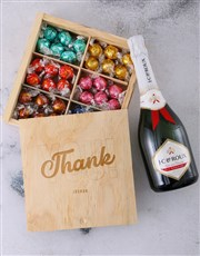Personalise Thank You Lindt Treasure Box