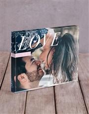 Personalised Love Initals Acrylic Block