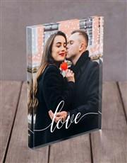 Personalised Love Acrylic Block