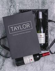 Personalised Rothschild and Millennium Wine Duo