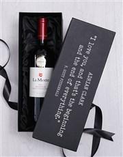 Personalised Love Quote Luxury Wine Giftbox