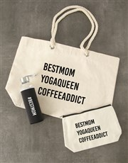 Personalised Hashtag Waterbottle and Tote