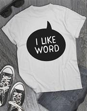 Personalised I Like T Shirt