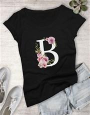 Personalised Initial Ladies T Shirt