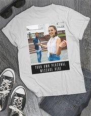Personalised Photo And Message T Shirt