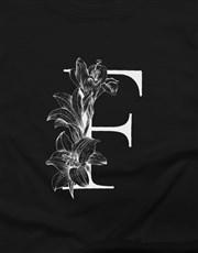Personalised Monotone Initial Ladies T Shirt