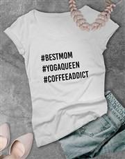 Personalised Hashtag Ladies T Shirt