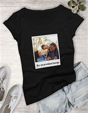 Personalised Polaroid With Message Ladies T Shirt